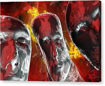 Psychiatric Canvas Print - Mental Illness by David Mack