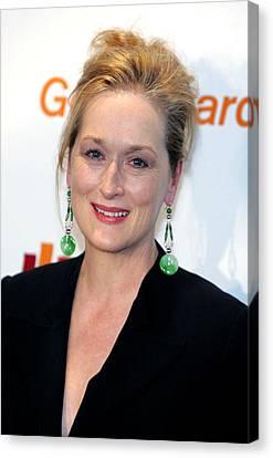 Meryl Streep At Arrivals Canvas Print by Everett