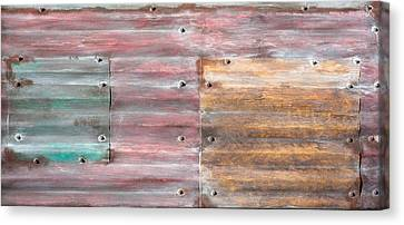 Stainless Steel Canvas Print - Metal Background by Tom Gowanlock