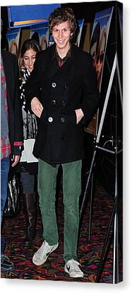 Michael Cera At Arrivals For Youth In Canvas Print by Everett