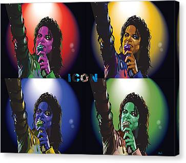 Michael Jackson Icon4 Canvas Print by Mike  Haslam