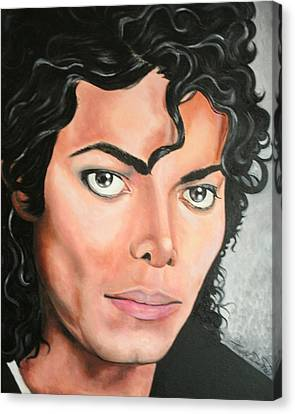Portraits By Timothe Canvas Print - Michael Jackson by Timothe Winstead