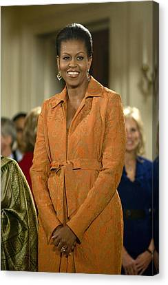 Michelle Obama At A Public Appearance Canvas Print