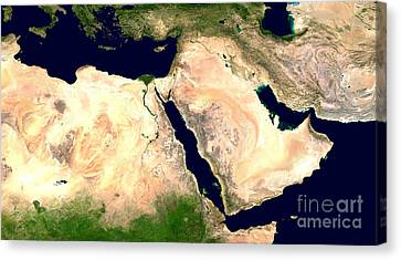 Sudan Red Canvas Print - Middle East by NASA / Science Source