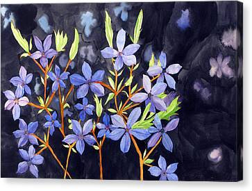 Midnight Blue Canvas Print by Debi Singer