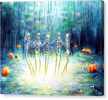 Midnight Pumpkin Ring Canvas Print by Heather Calderon