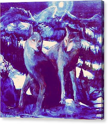 Midnight Wolves Canvas Print
