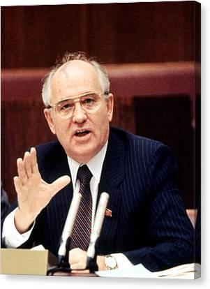 Mikhail Gorbachev During His Presidency Canvas Print by Everett