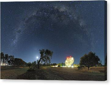 Milky Way Over Parkes Observatory Canvas Print by Alex Cherney, Terrastro.com