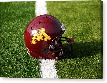 Minnesota Football Helmet Canvas Print by Bill Krogmeier