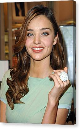 Miranda Kerr At In-store Appearance Canvas Print by Everett