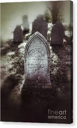 Misty Graveyard Canvas Print by Jill Battaglia