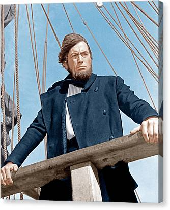 1956 Movies Canvas Print - Moby Dick, Gregory Peck, 1956 by Everett