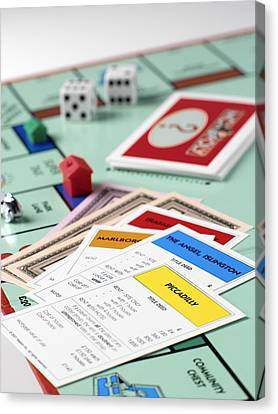 Monopoly Board Game Canvas Print by Tek Image