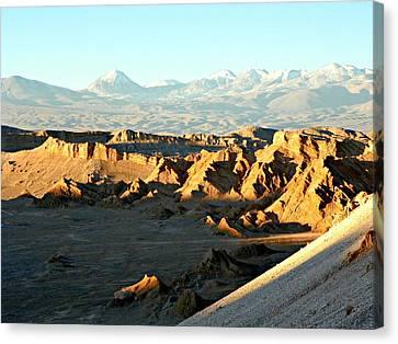 Moon Valley Atacama Desert  Canvas Print by Sandra Lira