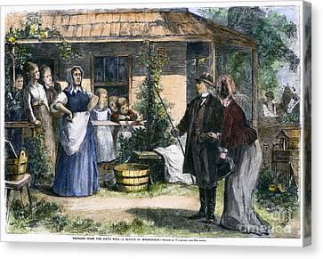 Mormon Wives, 1875 Canvas Print by Granger