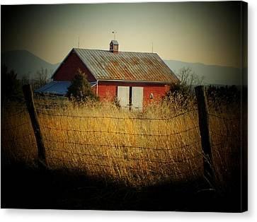 Morning Barn Canvas Print by Michael L Kimble