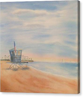 Morning By The Beach Canvas Print by Debbie Lewis