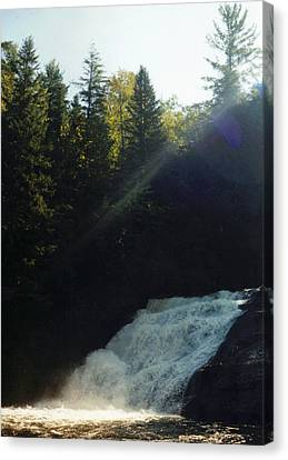 Canvas Print featuring the photograph Morning Waterfall by Stacy C Bottoms