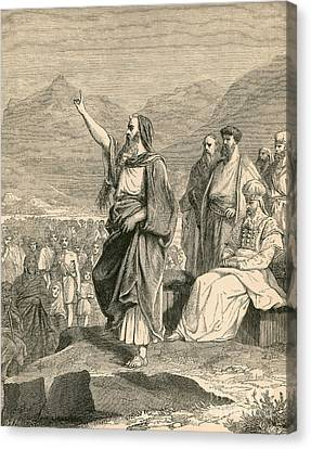 Moses, Christian, Hebrew And Muslim Canvas Print by Photo Researchers