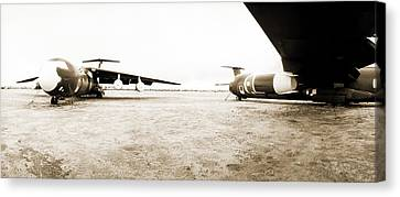 Mothballed C-141s Canvas Print by Jan W Faul