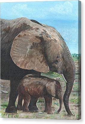 Mother Love Canvas Print by Stuart B Yaeger