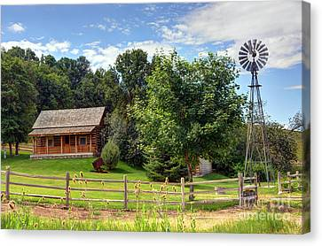Log Cabin Canvas Print - Mountain Cabin - Rural Idaho by Gary Whitton
