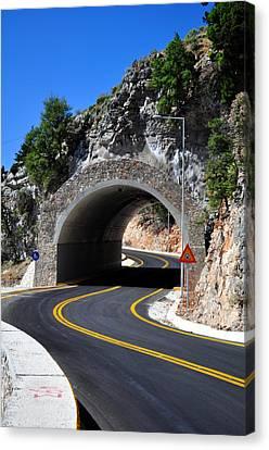 Mountain Tunnel. Canvas Print by Fernando Barozza