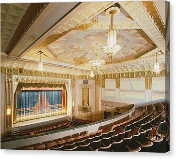 Movie Theaters, The Washoe Theater Canvas Print by Everett