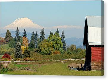 Mt. Adams In The Country Canvas Print by Athena Mckinzie