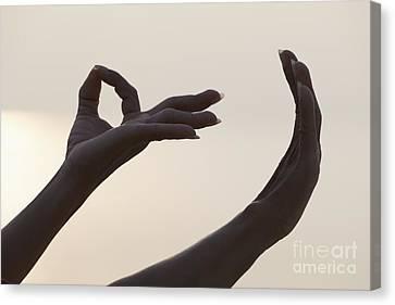 Mudra Hand Gesture Canvas Print by Roberto Morgenthaler