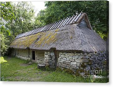 Muhu Museum Exterior In Estonia Canvas Print by Jaak Nilson