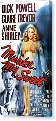 Murder, My Sweet, Dick Powell, Claire Canvas Print by Everett