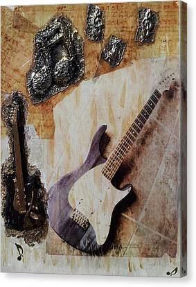 Music Etched In Time Canvas Print by Kendra Steiner