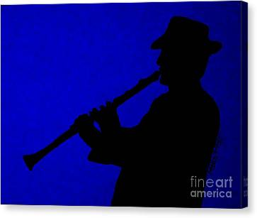 Music Man Canvas Print by Julie Brugh Riffey