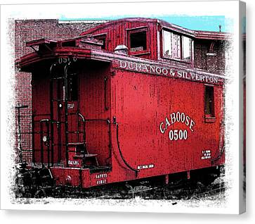My Little Red Caboose Canvas Print by Gary Baird