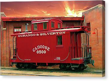 My Little Red Caboose Too Canvas Print by Gary Baird