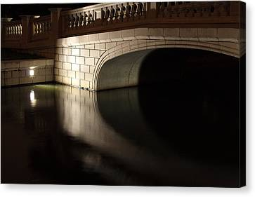 Canvas Print featuring the photograph Mystery Bridge by Scott Rackers