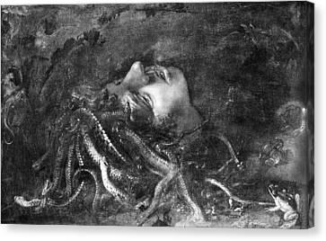 Mythology: Medusa Canvas Print by Granger