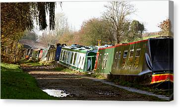 Narrow Boats Canvas Print