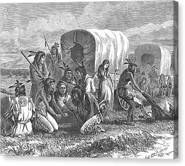 Native Americans: Gambling, 1870 Canvas Print by Granger