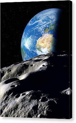 Near-earth Asteroid, Artwork Canvas Print by Detlev Van Ravenswaay