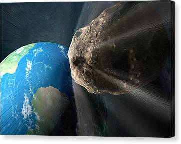 Near-earth Asteroid, Artwork Canvas Print by Henning Dalhoff