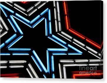 Neon Star Canvas Print by Darren Fisher