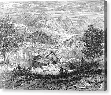 Nevada: Silver Mines, 1862 Canvas Print