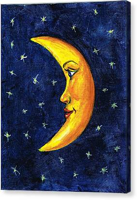 New Moon Canvas Print by Sarah Farren