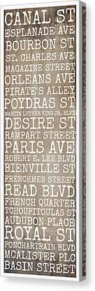 New Orleans Streets Canvas Print by Susan Bordelon