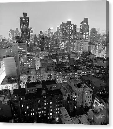 New York City At Night Canvas Print by Adam Garelick