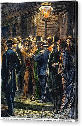 New York: Election, 1876 Canvas Print by Granger