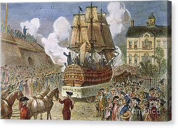 New York: Parade, 1788 Canvas Print by Granger